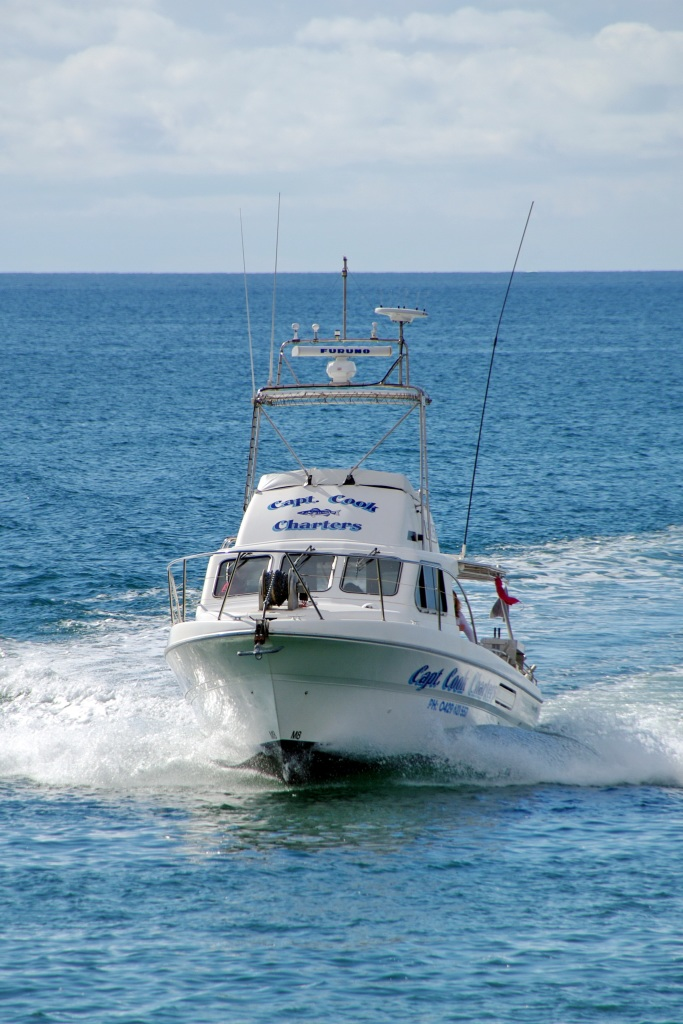 Captain Cook Fishing Charters moores at the Wallaroo Marina