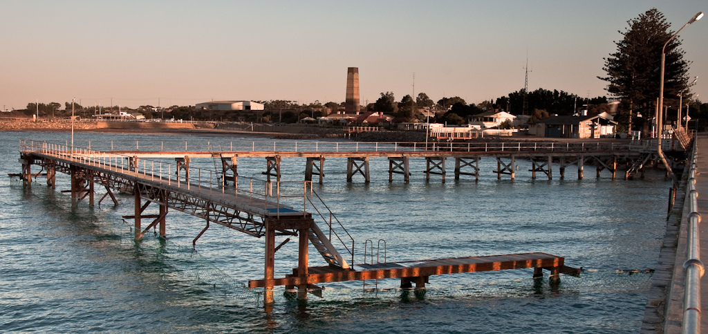 Wallaroo jetty Dusk panorama