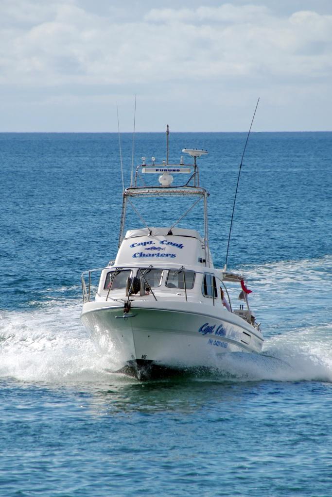 Captain Cook Fishing Charters moores at the Wallaroo Marina